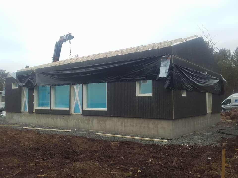 talonrakennusta